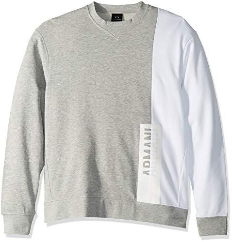 - A|X Armani Exchange Men's Long-Sleeve Crew Neck Sweatshirt, BROS BC05/WHITE M
