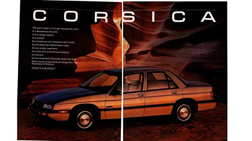 Magazine Print ad: 1988 Chevy Corsica, 2.8 L V-6, Drag Coefficient 0.33,