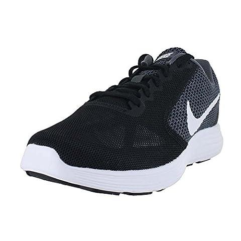 NIKE Women's Revolution 3 Running Shoe, Dark Grey/White/Black, 9 B(M) US