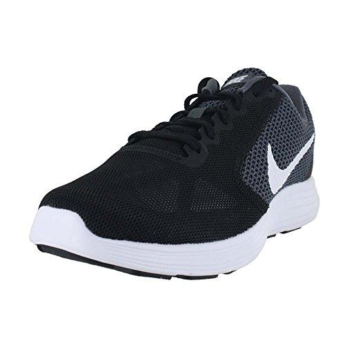Nike Women's Revolution 3 Running Shoe, Dark Grey/White/Black, 10 B(M) US