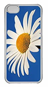 iPhone 5C Case, Personalized Custom White Daisy Against A Blue Sky for iPhone 5C PC Clear Case