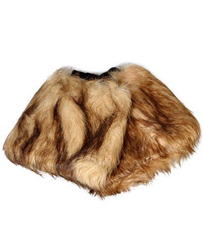 Faux Fur Leg Warmers (Brown) -