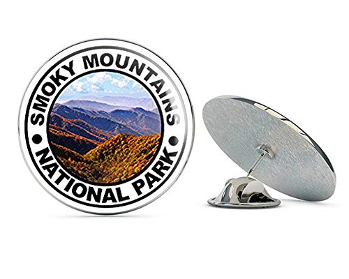 NYC Jewelers Round Smokey Mountains National Park (Hike Hiking Great) Metal 0.75