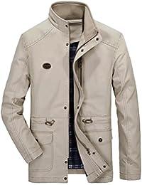 Men's Casual Military Windbreaker Hooded Jacket Cotton Car Coat