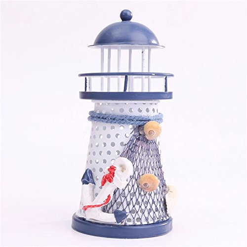 Home Decoration LED Light Use Lighthouse Mediterranean Style Anchor Craft Ornaments Ocean for Bedroom Decor