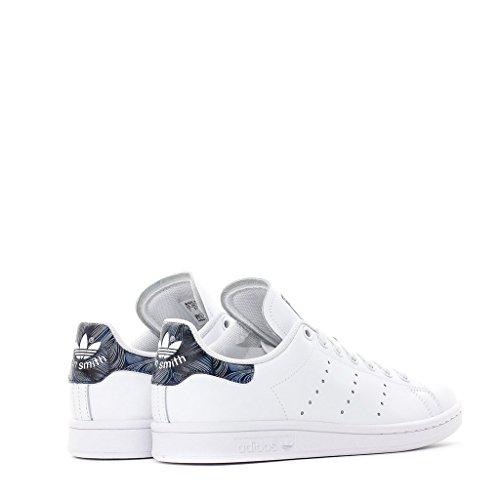 Adidas Stan Smith W Womens Fashion-sneakers Ftw Vit / Ftwwh / Blå