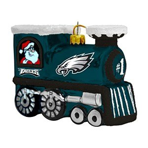 NFL Philadelphia Eagles Blown Glass Train Ornament