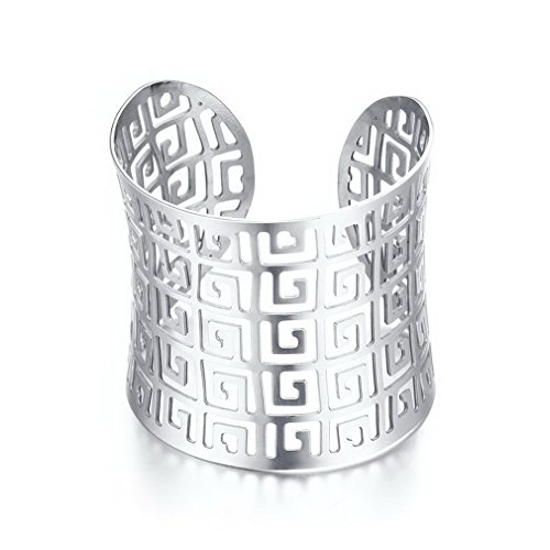 YAZILIND Cuff Bangle Bracelet Made of Metal Plated Adjustable