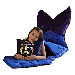 Enchantails Magical Mermaid Tail Sleeping Bag for Girls Tasi Mermaid-The Only One in The World - The Most Unique Mermaid Sleeping Bag - Perfect for Sleepovers