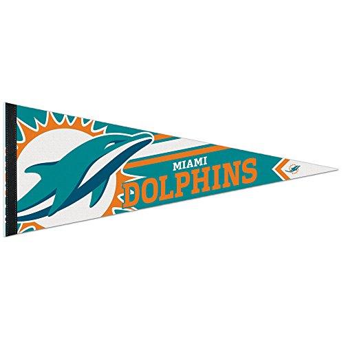 Dolphins Felt Pennant Miami (NFL Miami Dolphins Premium Pennant, 12 x 30-Inch)