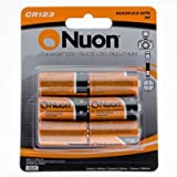 nuon batteries - Nuon - (6 Pack) NUCR123-6PK 3V CR123 Lithium Battery