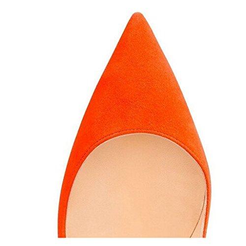 con cu a Orange Jushee Sandalias Suede Mujer 5qvA0qfEn
