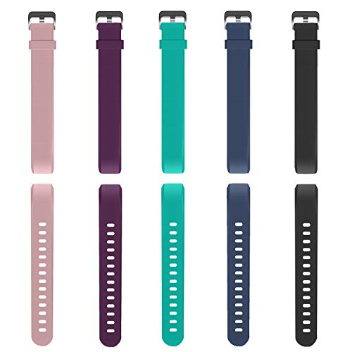Fitness Tracker, MoreFit Slim 2 Touch Screen Activity Health Tracker with Sleep Monitor, Wireless Pedometer Smart Wristband for Android iOS Phone (Replacement Bands-5 Pack)