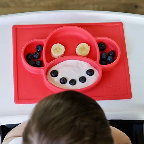 NUBY Suregrip ™ Super aspiration Baby Food plaque//silicone Infant Feeding napperon