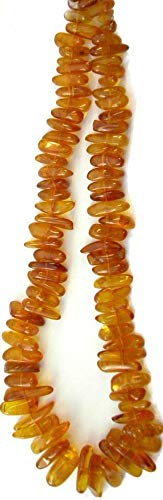 Natural Amber Graduating 10-16mm Side Drilled Nugget -