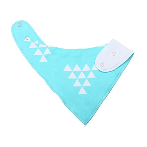 Cuddly Baby Bandana Drool Bibs with Snaps - Pacifier Clip - 4-Pack Absorbent Organic Cotton Polyester Unisex Blue Scarf Teething Bib Set - Cute Baby Gift for Boys & Girls - Stylish Design