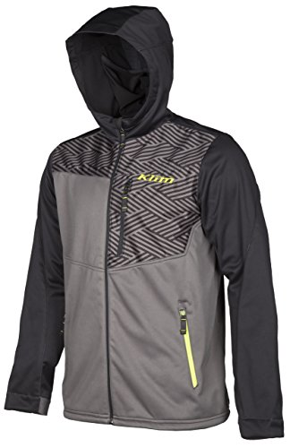 Klim Transition Men's Hoody Zip Ski Snowmobile Jacket - Black/X-Large