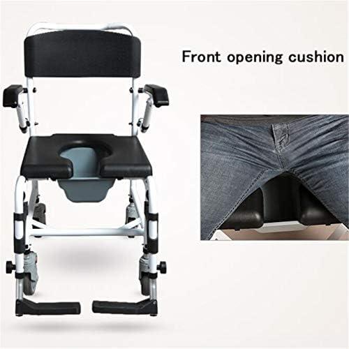Bbhhyy Toilettenstuhl Alter Mann Mit Mobiltoilettensitz for Behinderte Patienten Faltbare Mobiles Rollstuhl WC
