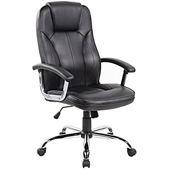 Amazon.com: Executive Office Chair With PU Leather Back Support ...