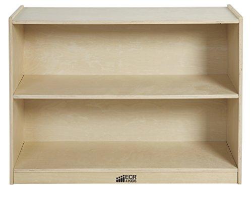 ECR4Kids Birch 2 Shelf Storage Cabinet with Back, Natural by ECR4Kids (Image #2)