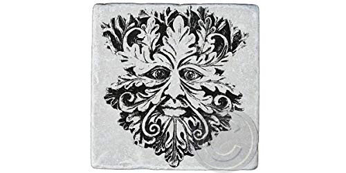 Green Man Coaster, Green Man, Nature, God, Pagan, Celtic, Spiritual, Goddess, Wicca, Wiccan, gifts, Stone Coaster,