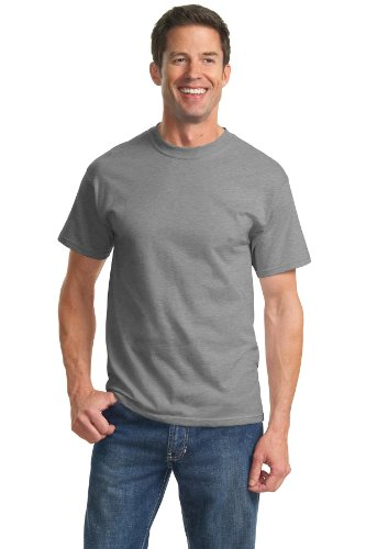 Port & Company Tall 100% Cotton Essential TShirt PC61T,2X-Large T,Athletic Heather 100 Cotton Essential T-shirt