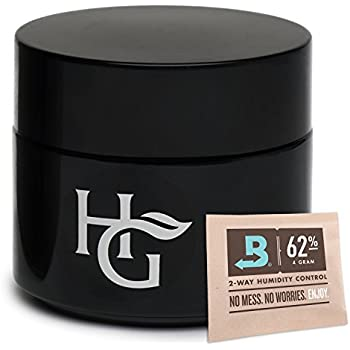 Herb Guard - Quarter Oz Airtight Container & Smell Proof Stash Jar (100ml) Ultraviolet Protection Keeps Herbs Fresh for Months