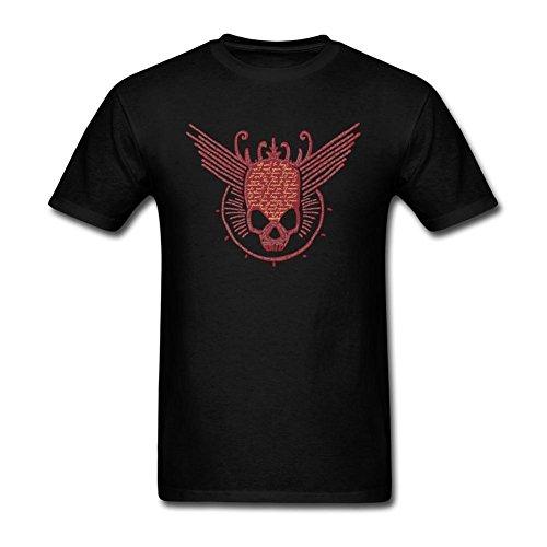 LSLEEVE Men's Killswitch Engage Logo T-shirts Black XXL