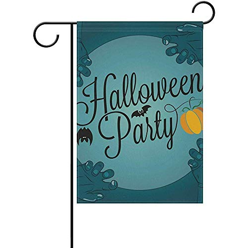Andrea Back Double Sided Yard Garden Flag, Halloween Party Blue Perfect for Indoor Outdoor Garden Yard Decoration (12