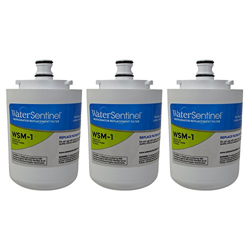 WaterSentinel WSM-1 Made in USA Refrigerator Replacement Filter: Fits Whirlpool FILTER 7 Filters (3-Pack) by WaterSentinel