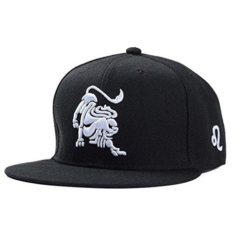 BIBITME Hip Hop Embroidered 12 Constellation Zodiac Hats Snapback Baseball Cap (Adjustable circumference:22
