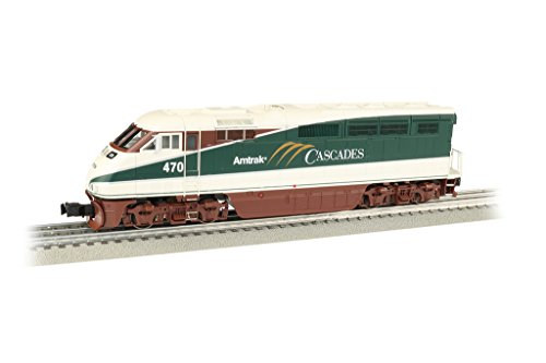 Williams by Bachmann Emd F59PHI Locomotive with True Blast Plus Sound-Amtrak Cascades #470 O Scale, Protypical Green, Cream and (Amtrak Train Engineer)