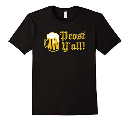 [Men's Oktoberfest Vintage Prost Y'all Funny T Shirt XL Black] (German Beer Girl Costume Ideas)