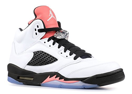 Jordan Air 5 Retro GG Big Kids Shoes White/Sunblush/Black 440892-115 (6 M US) by Jordan