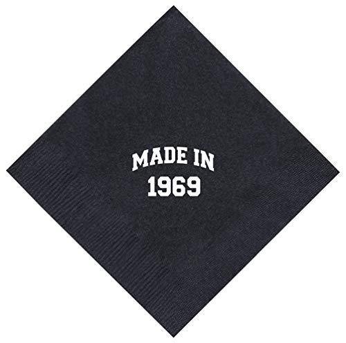 50th Birthday Napkins - 50th Birthday Gifts Made 1969 50th