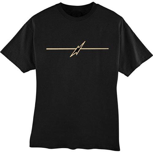 Awesome T-shirt (Bolt Line) Lightning Bolt and Line Black (Medium) [Apparel]