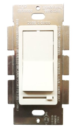 SDM31000WWHITE Sliding Dimmer w LED 3Way 1000W White