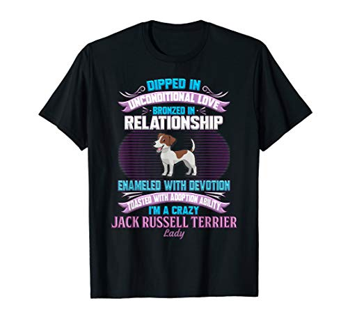 (Funny Crazy Jack Russell Terrier Lady T Shirt)