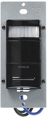 Leviton ODS10-IDE Decora 120/277V Wall Switch Occupancy Sensor, Black ()