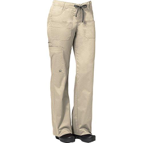 Blossom by Maevn Women's Utility Cargo Scrub Pant Medium Tall Khaki/Charcoal by Maevn Uniforms