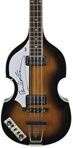 Paul McCartney Beatles Signed Left Handed Hofner Violin Bass Guitar #S02253 - PSA/DNA Certified - Paul Mccartney Violin Bass
