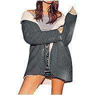 Gopeak Women's Winter Warm Coat, Women Curved Hem Fleece Hoodie Warm Coat Many Color for Choose