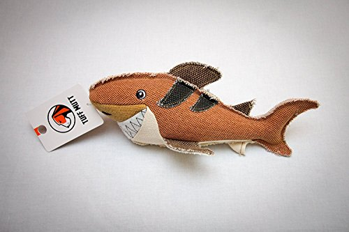 Squeaky Canvas Dog Toy for All Breeds by Tuff_Mutt (Shark)