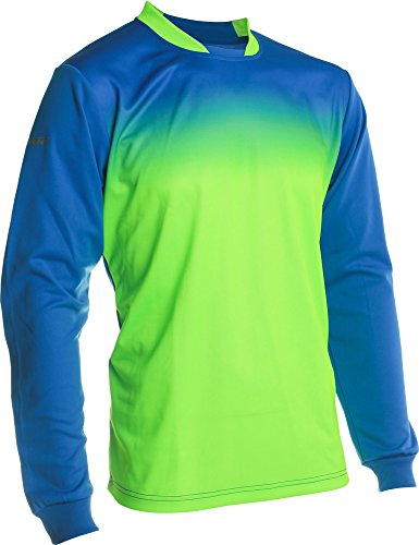 (Vizari Vallejo Goalkeeper Jersey, Royal/Neon Green, Size Adult Small)