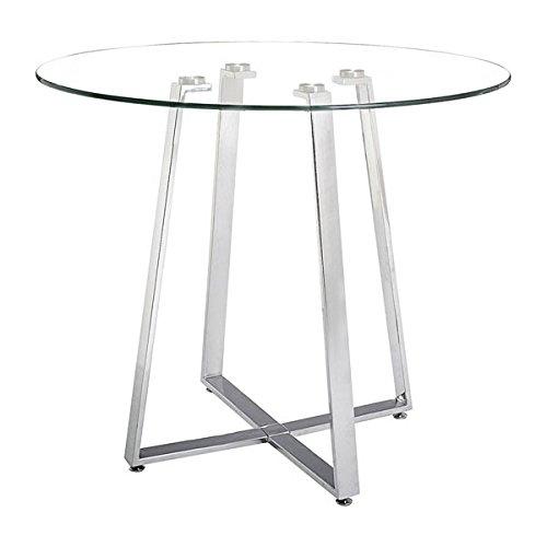 Zuo Lemon Drop Counter Table, Chrome ()