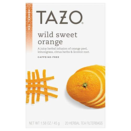 Tazo Wild Sweet Orange Herbal Tea, 20 Count Box 1.58oz (Pack of 3)
