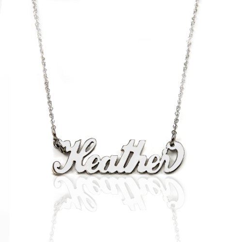 14k Gold Personalized Name Necklace (white-gold, 20 Inches)