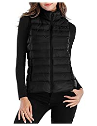 KUFV Women Packable Ultra Lightweight Down Vest Outdoor Puffer Vest