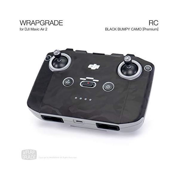 WRAPGRADE Skin Compatibile con DJI Mavic Air 2 | Radiocomando (Black Bumpy Camo) 2 spesavip