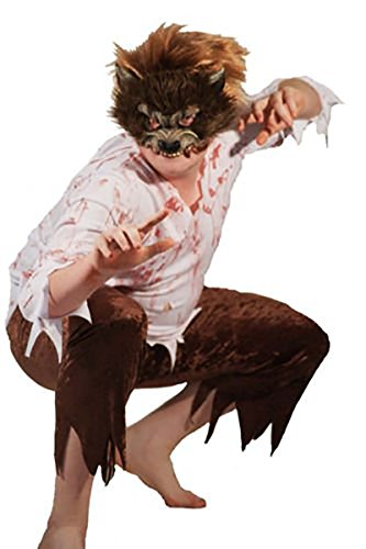Halloween-Horror-Vampire-Red Riding Hood WEREWOLF Child's Fancy Dress Costume - All Ages (AGE 7-8) -
